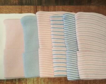 Baby Boy Hat.  Baby Girl Hat. Newborn Hospital Hat, Hospital Newborn Beanie, Newborn hat, Newborn Boy hat.  Design your Own!