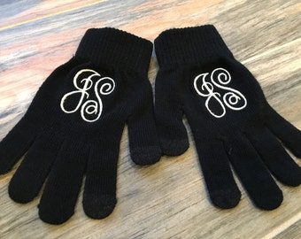 Embroidered/Monogrammed Winter Stretch Gloves, ladies gloves, woman's gloves, winter gloves
