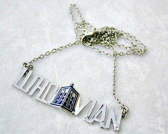Whovian Pendant, Geek Charm, Doctor Who Supplies, Science Fiction Jewellery, Nerdy