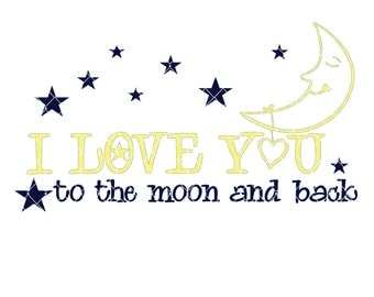 Download I love you to the moon and back svg   Etsy