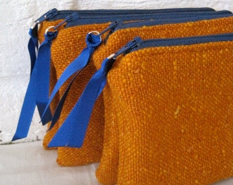 Handmade Recycled Orange Pouch