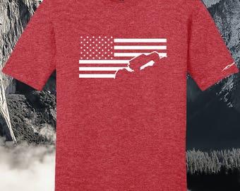 Jeep Shirt Jeep Wrangler Shirt USA American Flag Heather Red-3