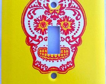 Calavera Single Light Switch Cover Dia De Los Muertos Day Of The Dead Room Decor