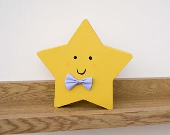 Twinkle Little Star Wooden Nursery Ornament