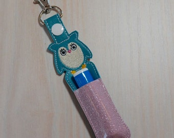 Lip Balm, Chapstick, Flash Drive, USB Drive Holder - Owl