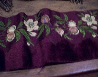 antique silk velvet trim textile supplies