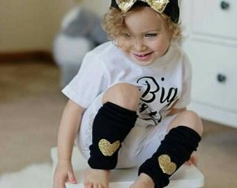 Baby Leg Warmers, Girls Leg Warmers, Black and Gold Birthday Outfit, Black and Gold Leg Warmers, Leggings, Toddler Leg Warmers, Liv & Co.™