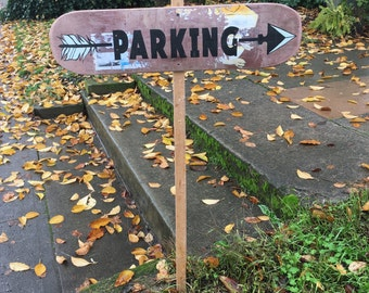 Parking || Hand Painted  Sign