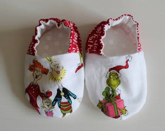 Dr Seuss Grinch & Family Baby Booties