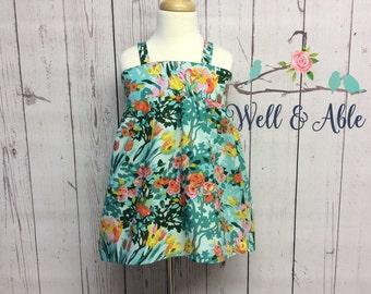 Mint floral Hattie top