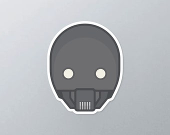 Star Wars inspired K-2SO vinyl sticker