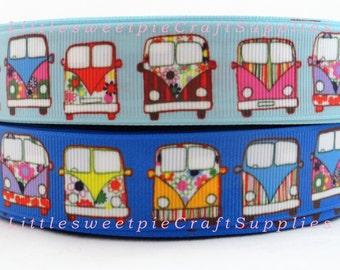 """1"""" Cute Cars Printed Grosgrain ribbon-Hair bow supplies Craft Supplies"""