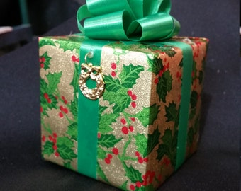Christmas Music box wrapped as a gift