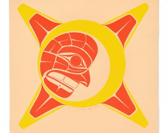 Vintage 1984 Sun Harvey Williams Nuu-chah-nulth Silkscreen Print