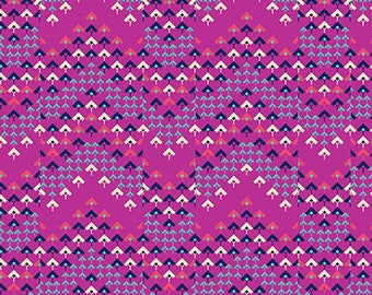 Pre-order: Prismatic in Raspberry by Amy Butler from the Soul Mate collection for Free Spirit #CPAB005.8Rasp by 1/2 yard