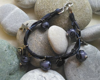 Bracelet, Handmade, Glassbead