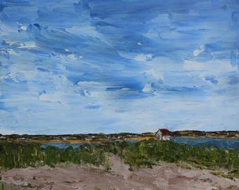 Brant Point, Nantucket- Palette Knife Oil Painting