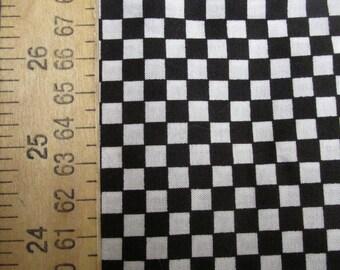 """46"""" x 44""""  Black & White Checks"""