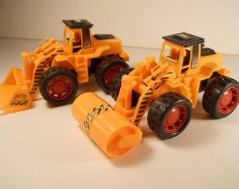 Toy Cement Truck, Bulldozer Truck Set 2 Pcs Construction Vehicles  n343