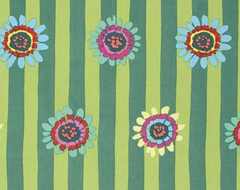 Kaffe Fasset fabric Spring 2015 Regency GP07 Green blue yellow pink red stripe floral sew quilt apparel freespirit cotton fabric by the yard