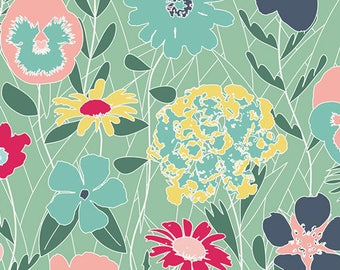 Curiosities - Splendiferous Chill by Jeni Baker for Art Gallery Fabrics, 1/2 yard, CUR-29130