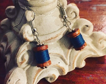 Threaded Spool Earrings