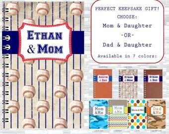 Parent Child Keepsake Journal, Mother's Day, Father's Day, gifts for kids, parent-child journal, children's journal, dad gift, mom gift