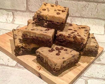 Cookie Dough Chocolate Brownies (full pan)