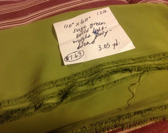 """110"""" X 60"""" sage green solid light weight polyester blend"""