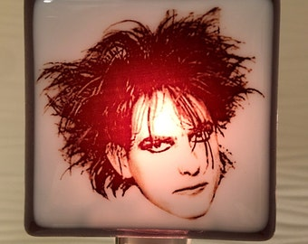 Robert Smith The Cure Night Light Fused Glass