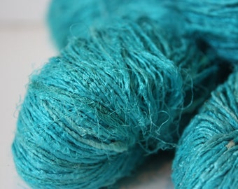 NEW***Handspun Recycled Mulberry Silk - Turquoise