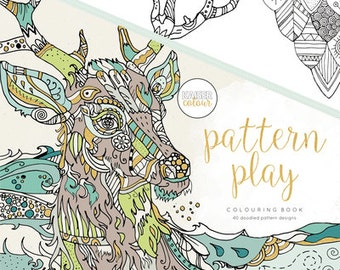 Kaisercraft Adult Colouring Book 40 Designs Pattern Play