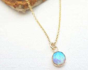 Orbital Opal Pendant Necklace