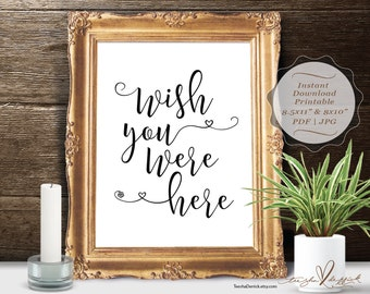 Instant download Printable In Loving Memory, Wedding Memorial Table Sign, Memory Sign, Wish you were here (c0300)
