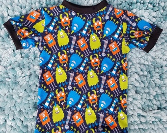 Trendy Baby Boy Girl Toddler Kids Child Hipster Monster Tee Shirt Baby/Toddler/Kids Top Long or Short Sleeve Options