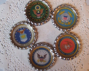 Military ID Holder (M1) Military Magnets - Army ID Holder - Marine Corps Badge Reel - Navy Badge Holder - Coast Guard Magnet  Air Force