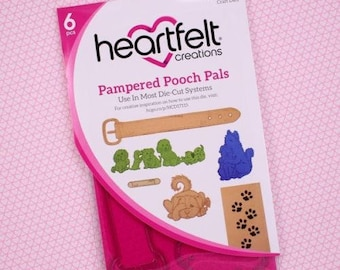 Heartfelt creations Pampered pooch pals stamp and die set