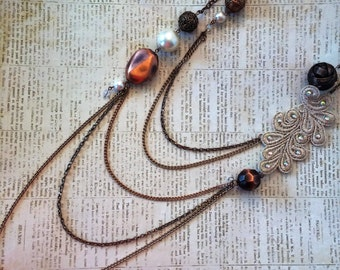 Layered And Lace Necklace