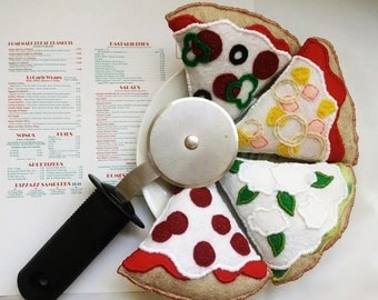 Pizza Cat Toy, Felt Catnip Pizza Slice, Cat Toys, Felt Catnip Toys
