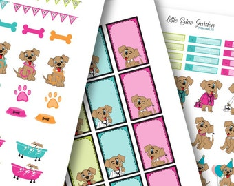 My Little Pup Color Medley: Neon Lights Planner Stickers -Instant Download, printable sticker kit, eclp stickers
