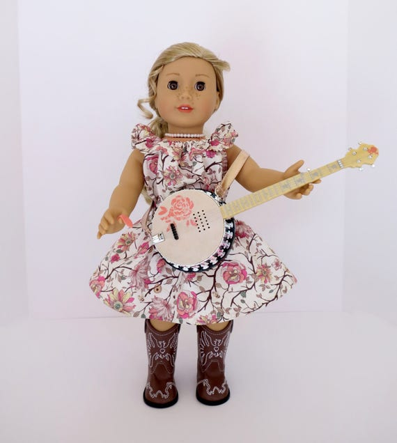 Pink Country Rose Dress for 18 inch dolls such as American Girl® Tenney Grant®