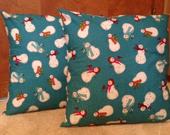 Snowman Pillow Covers 16 x 16 inch