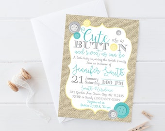 cute as a button baby shower invitation cute as a button baby shower invitation