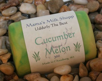 Homemade - Cucumber Melon - Goat Milk Soap