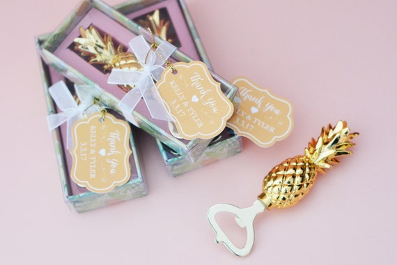 Unique Wedding Gifts Under USD100 : ... Yellow Gold with Tropical Gift Box, Wedding Favor, Bridesmaids Gift