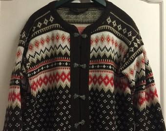 Norlander Authentic Vintage Norwegian Knit Cardigan sz 16/18