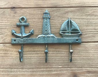 Anchor Lighthouse Sailboat Hook Three Hooks Lighthouse hook Sailboat hook