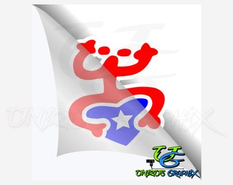 Puerto Rico Decal Frog Coqui decal window sticker