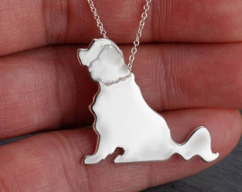 Cavalier King Charles Spaniel Handcrafted sterling silver necklace