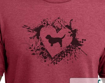 Basset Fauve de Bretagne - Grunge Heart - Basset Fauve de Bretagne shirt - Ladies or Unisex cut - Choose your color!